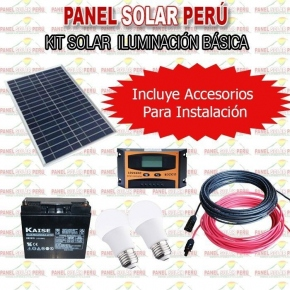 Kit Solar Iluminación Básica