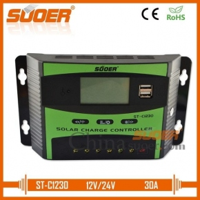 CONTROLADOR PWM LCD SUOER 30A + USB