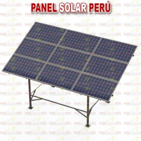 Estructura elevada tipo mesa F° G° para 9 paneles solares fotovoltaicos 250wp - 330wp