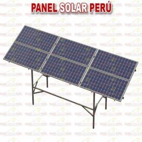 Estructura elevada tipo mesa F° G° para 6 paneles solares fotovoltaicos 250wp - 330wp