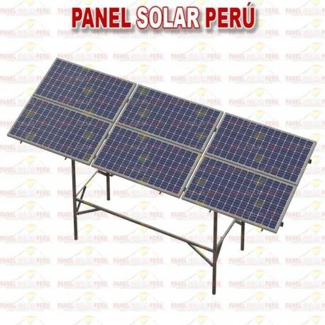 Estructura tipo mesa F° G° para 6 paneles 250wp - 330wp