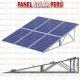 Estructura tipo inclinado clásico F° G° para 8 paneles solares fotovoltaicos 250wp - 330wp