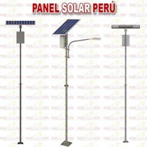 Alumbrado publico solar 30W con poste de 6 metros sistema modular alta irradiacion