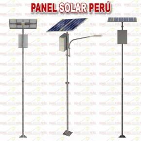 Alumbrado publico solar 30W con poste de 6 metros sistema modular baja irradiacion