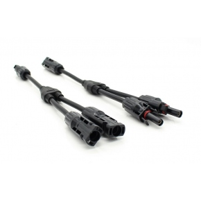 Conector Doble MC4 Multicontact 1 macho 2 hembras con Cable