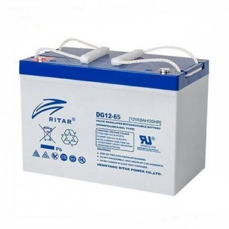 Bateria Ritar 12v 65Ah GEL Libre Mantenimiento