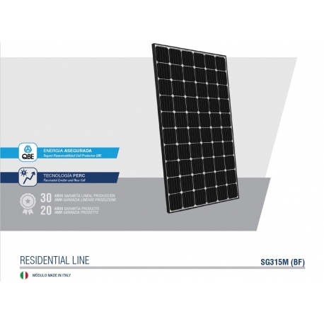 Panel Solar 315wp Monocristalino Peimar Italian