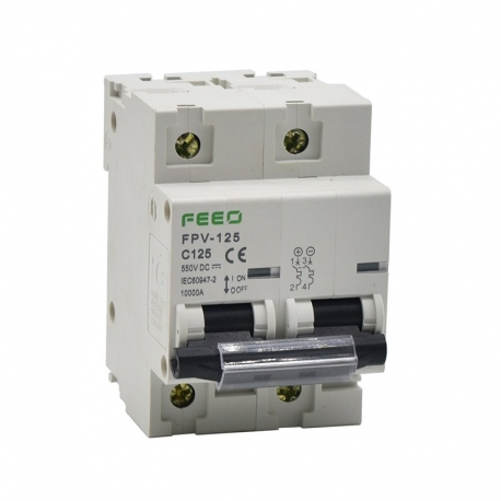 Termomagnético DC 2P 100A 550VDC MCB