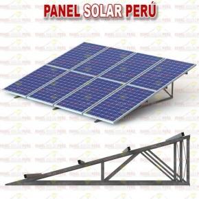 Estructura tipo inclinado clásico aluminio para 3 paneles solares fotovoltaicos 250wp - 400wp