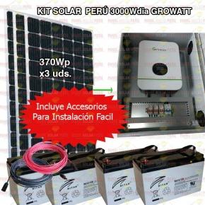 Kit Solar Peru 3000WH/DIA Uso Diario + flete organos Piura
