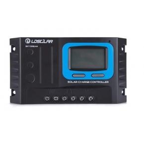 CONTROLADOR PWM LCD LD SOLAR 30A + 2 USB INPUT
