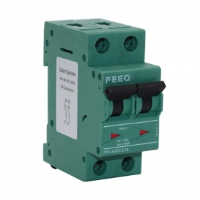 Termomagnético DC FEEO 2P 10A 550VDC MCB