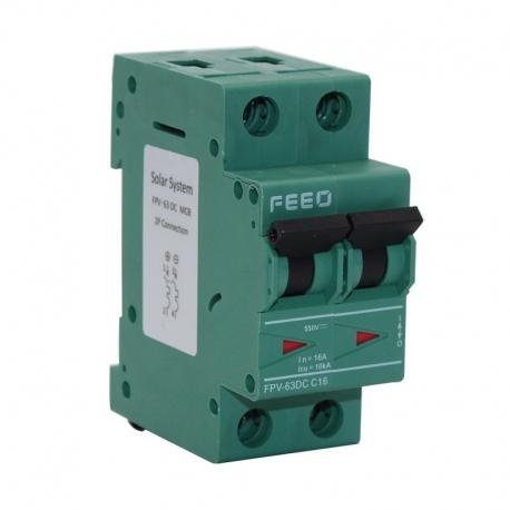 Termomagnético DC FEEO 2P 50A 550VDC MCB