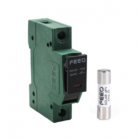 Fusible Cilindrico FEEO 32A DC + Portafusible