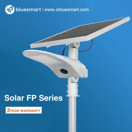 Bluesmart Lámpara Solar 4000lm Exterior Integrado con sensor de movimiento