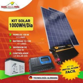 Kit solar Peru 600W/dia Uso Diario: Luz, TV, Laptop. ONDA MODIFICADA