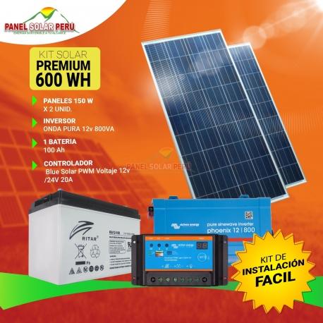 Kit solar Peru 600W Uso Diario: Luz, TV, Portátil. ONDA MODIFICADA