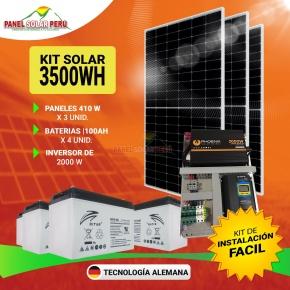 Kit Solar Peru 3500WH/DIA Uso Diario: Refrigeradora Lg Smart Inverter, TV, DVD, Laptop, Carga Celular, Licuadora. ONDA PURA Perú