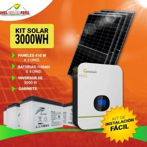 Kit Solar Peru 3000WH/DIA Uso Diario: Refrigeradora Lg Smart Inverter, TV, DVD, Laptop, Carga Celular, Licuadora. ONDA PURA Perú