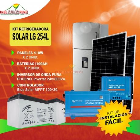 Kit Refrigeradora Solar LG 254L